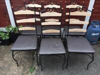 6 x wrought iron dining chairs