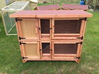 Brand New well made double Rabbit Hutches for sale