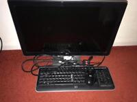 """HP 23"""" LCD monitor plus keyboard/mouse"""