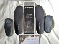 Superfeet custom black heat moldable footbed kit new sz E or up to 8-8.5uk