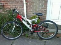 Apollo al6000 full suspension mountain bike