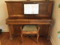 piano rose wood 1940s
