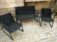 metal patio chairs black