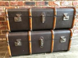 ANTIQUE TRUNKS / SUITCASES