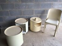 1960s chair and tables