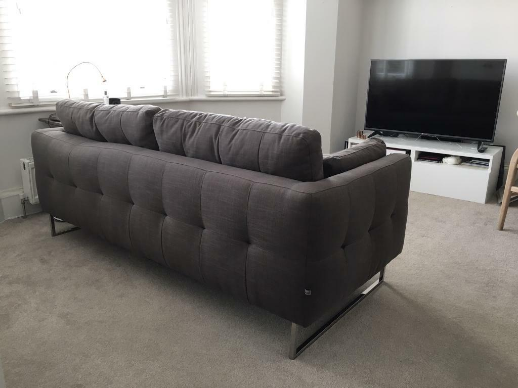 Nearly New Dwell Paris Three Seater Sofa Grey