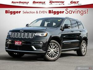 2017 Jeep Grand Cherokee Summit|DUAL SROOF|FC&LDW|HTD&VENT LTHR|