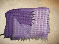 Description Beautiful ladies purple scarf. Shades of purple with hint of grey. Soft & smooth.