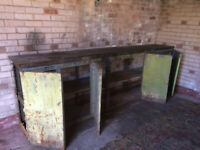 Work Bench Dexion Framed. Heavy Duty with Timber Top