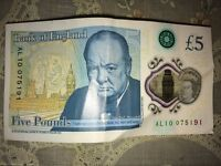New £5 bank note .. ALI name on it .. Rare! - Serial Number - AL10 075191