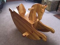 Child's wooden rocking horse
