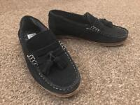 Kids navy suede loafers from River Island
