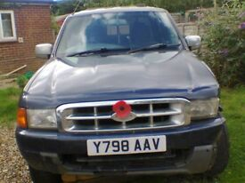 2001 FORD RANGER XLT 4X4 TD DOUBLE CAB PICK UP- SPARES OR REPAIR, COMPLETE - 2 OWNERS - £735.00ono