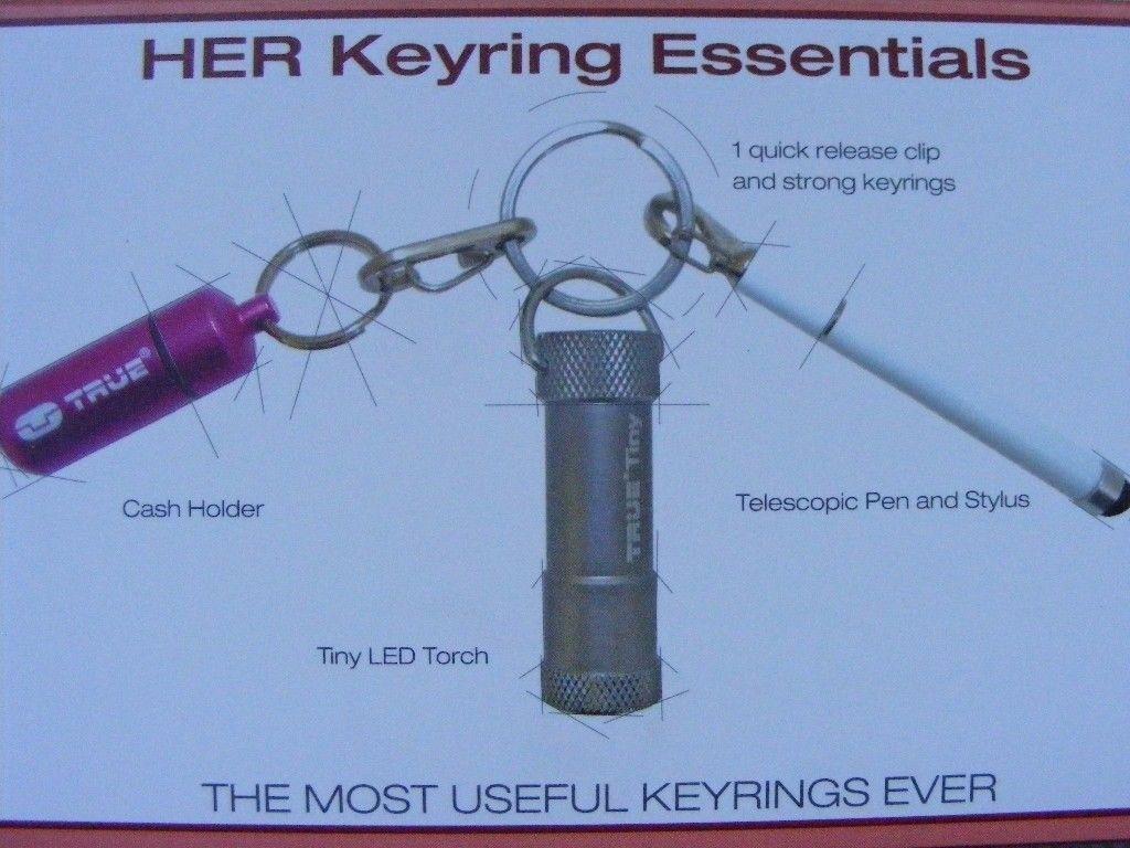 True Utility HER Keyring Essentials - Triple Tool Pack: Brand New
