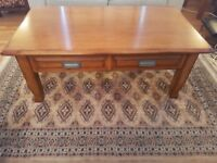 Oak Coffee Table & 2 Matching Side Tables