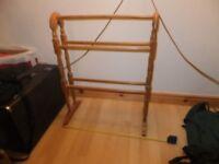 Wooden freestanding towel rail
