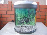 fish box half moon cold water fish tank.