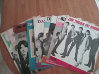 Sheet Music from The 1960s 12 Beatles,Hollies, Hermans Hermits & Other artists