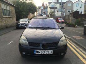 2003 RENAULT CLIO 1.5dci Diesel 3dr Black