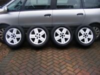 Renault espace alloy wheels and tyres set of four 225 55 r 17
