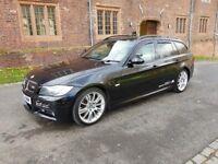 2006 BMW E91 330D M SPORT TOURING AUTOMATIC SAPPIRE BLACK MEGA SPEC EXCEPTION CAR NICE COLOUR COMBO