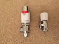 Drayton radiator valve and lock shield central heating thermostat