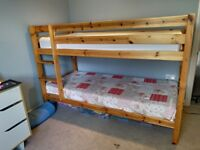 Bunk beds in pine - good condition from smoke and pet free home