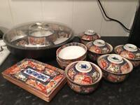 Japanese dish set with party susan