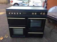 Black Leisure Cookmaster 100 Dual Fuel Range Cooker... ** DELIVERY AVAILABLE **