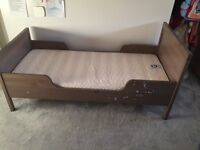IKEA toddler bed with mattress (not IKEA)