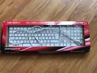 Keysonic KSK-8021U Full Sized Aluminium Slim Design Keyboard