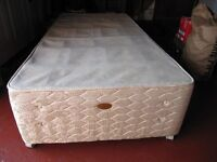 Sealy Single divan bed base with two drawers fire resistant.