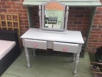 Pretty dressing table and mirror