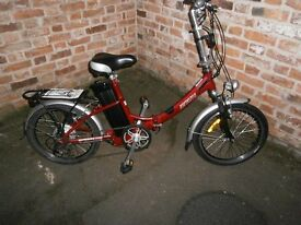 "Used++Electric Assisted Bike++Batribike Breeze E-Bike++ 20"" wheel Folder++New Battery++BARGAIN"