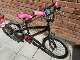 "Girls bike 18"" Apollo Boogie BMX style bike good condition barely used"
