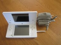 Nintendo DS consloe polar white charger case complete nice condition