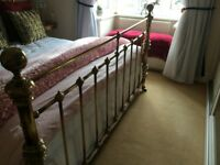 Brass bed surround from Dreams for super king bed