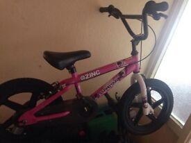 Girls 16inch bmx zinc bike