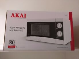 Akai 20L 800W Manual Microwave - White Unopened