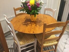 Extending wood dining table with 6 chairs Marks and Spencers
