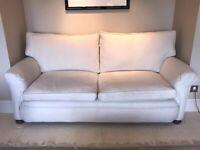 large two seater cream sofa