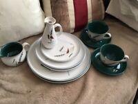 Denby green wheat pottery