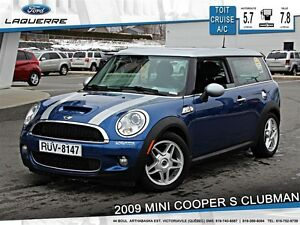 2009 MINI Cooper S Clubman **TOIT*CRUISE*BLUETOOTH*A/C**