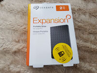 New Seagate 2 tb Portable HD (Use for external or internal) PS4 or Xbox 1