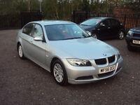 BMW 3 SERIES 318 2.0 4 DR SALOON AUTO SILVER PETROL LOW MILEAGE F.S.H MOT AUX 2 KEYS EXTRAS