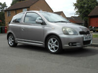 TOYOTA YARIS T-SPORT 1.5 VVT-I,2002, 3 door, 1 LADY OWNER ONLY 40,000mls !!!! immaculate throughout
