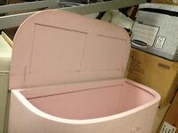 storage box vintage pink trunk
