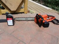 CHAIN SAW ELECTRIC CS2040 + CHAIN OIL