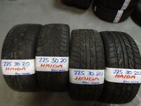matching set 225 30 20 HAIDAS only dun 100miles cost £280 accept £180 for set SUPP & FITTED 7-DAYS