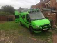 Transit campervan rs green
